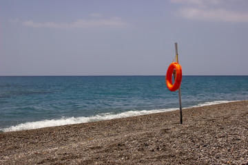 Rettungsring am Strand
