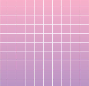 Violet background with white grid. Backdrop for trendy design, modern collages, creative art