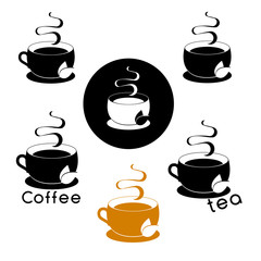 Coffee logotype. Stylized coffee cup icon. Vector illustration