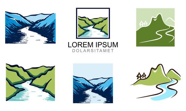 Elegant Valley River Logo Template