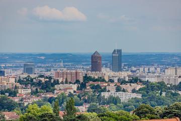 Vue sur Lyon et environs depuis Saint-Cyr-au-Mont-d'or
