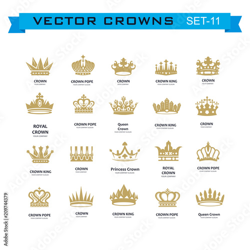 King And Queen Crowns Symbols Stock Image And Royalty Free Vector
