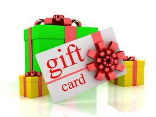 Gift boxes and gift card