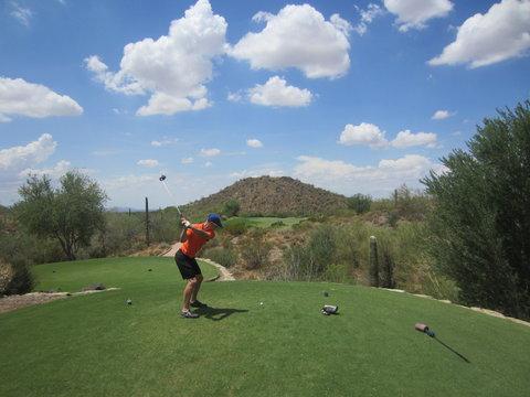 Golfer in Arizona