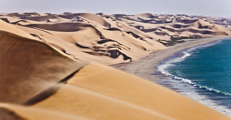 Tuinposter Kust The Namib desert along side the atlantic ocean coast of Namibia, southern Africa