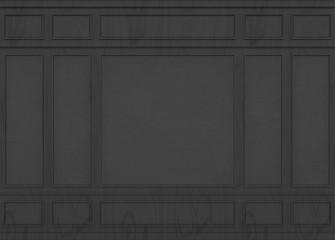 3d rendering. Dark Wood classic luxury pattern wall background.