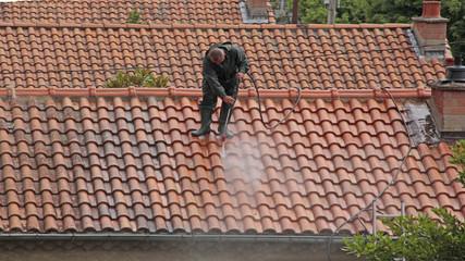sur le toit nettoyage