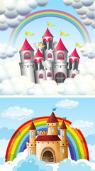 A Beautiful Fairytale Castle in Sky