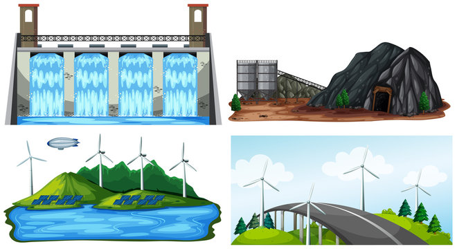 A Set of Natural Electric Power Plant