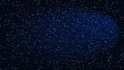 Star Night Sky. Vector illustration.
