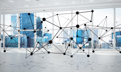 Networking and wireless connection as concept for effective modern business