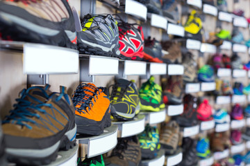 Image of sneakers on shelves