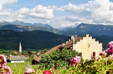 Südtirol - Ausblick auf Kaltern in der Abendsonne