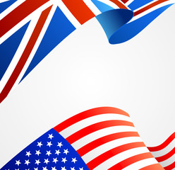 Realistic Detailed 3d Flag Background Card. Vector