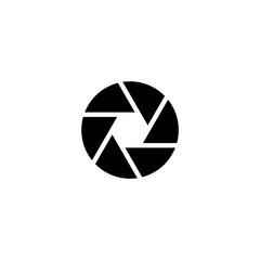 Aperture Focus. Flat Vector Icon illustration. Simple black symbol on white background. Aperture Focus sign design template for web and mobile UI element