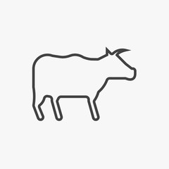 Buffalo icon isolated on white background. Vector art.