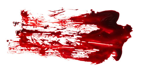 Blood splatter isolated on white background