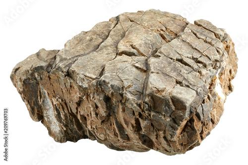 Rock Stone Isolated On White Background Stock Photo And