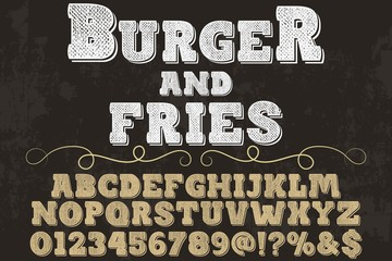 vintage font typeface handcrafted vector