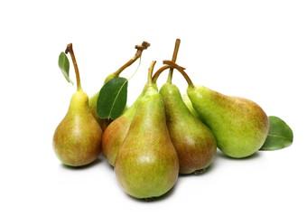 Fresh ripe pear isolated on white background