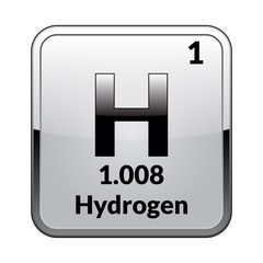 The periodic table element hydrogen.Vector.
