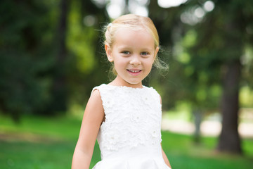 Smiling beautiful child