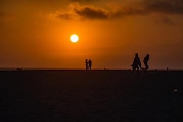 tramonto spiaggia beach