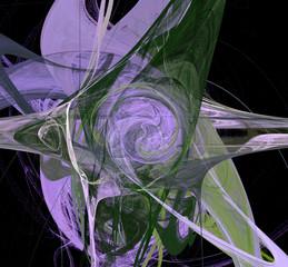 Abstract digital creatiopn Saturn