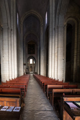 Main nave and altar in Saint Trophime Cathedral in Arles, France. Bouches-du-Rhone,  France