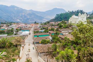 Aerial view of Belen Gualcho village, Honduras