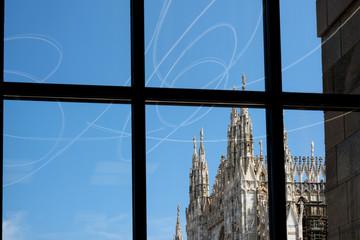 Milano Piazza Duomo e Galleria dal Museo del Novecento
