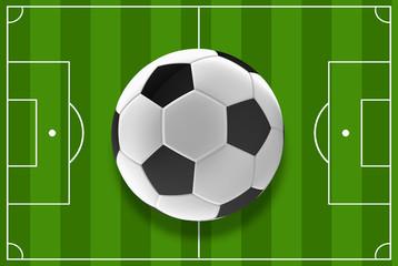 soccer field top view 3d rendering