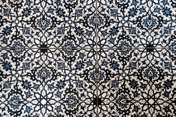 Moroccan tile floor pattern top view