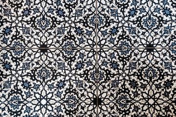 Moroccan tile floor pattern top view