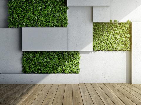 Vertical garden in modern interior