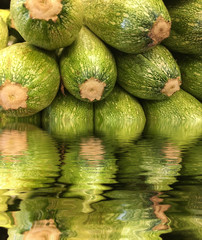 Nice green Squash with reflection