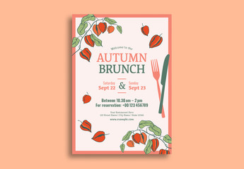 Autumn Brunch Flyer Layout