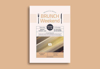 Brunch Flyer Layout with Photo Element