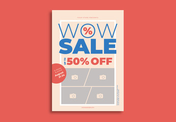 Sale Flyer Layout with Photo Elements