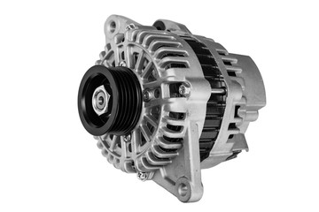 car alternator on a white background