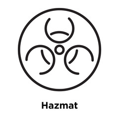 Hazmat icon vector sign and symbol isolated on white background, Hazmat logo concept, outline symbol, linear sign