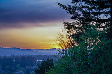 Sunrise on Camas WA