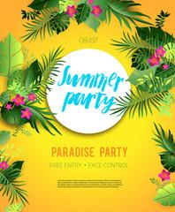 Yellow summer poster