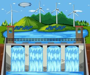 Natural Green Power Plant Scene