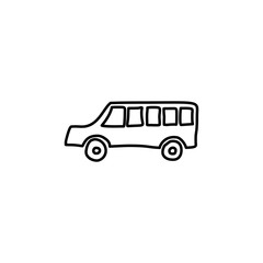 school bus sketch icon. Element of education icon for mobile concept and web apps. Outline school bus sketch icon can be used for web and mobile