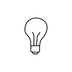 bulb sketch icon. Element of education icon for mobile concept and web apps. Outline bulb sketch icon can be used for web and mobile