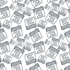 calendar icon seamless pattern