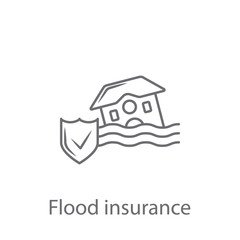 Flood Insurance icon. Simple element illustration. Flood Insurance symbol design from Insurance collection set. Can be used for web and mobile