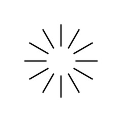 loading the sun rays icon. Element of loading sign for mobile concept and web apps. Detailed loading the sun rays icon can be used for web and mobile. Premium icon