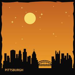 Pittsburgh City Skyline Logo Template